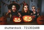 family mother and children in... | Shutterstock . vector #721302688