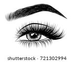 hand drawn woman's luxurious... | Shutterstock .eps vector #721302994