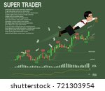 super trader is leading the... | Shutterstock .eps vector #721303954