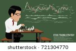 an investor is thinking about... | Shutterstock .eps vector #721304770