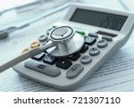health care costs or medical... | Shutterstock . vector #721307110