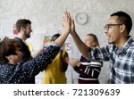 group of people team support... | Shutterstock . vector #721309639