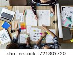 group of colleagues people... | Shutterstock . vector #721309720
