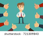 happy and proud businessman... | Shutterstock .eps vector #721309843