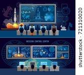 mission control center banner ... | Shutterstock .eps vector #721310020