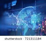 financial stock market graph on ... | Shutterstock . vector #721311184