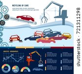car recycling infographic.... | Shutterstock .eps vector #721311298