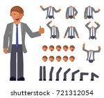 cartoon business man full... | Shutterstock .eps vector #721312054