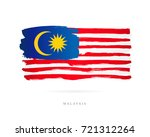 flag of malaysia. vector... | Shutterstock .eps vector #721312264