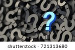 black and blue question marks... | Shutterstock . vector #721313680