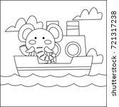 children coloring book  animal...   Shutterstock .eps vector #721317238