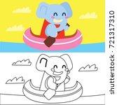 children coloring book  animal...   Shutterstock .eps vector #721317310