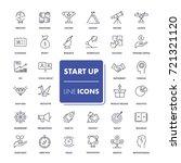 line icons set. start up pack. ...   Shutterstock .eps vector #721321120