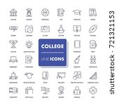 line icons set. college pack.... | Shutterstock .eps vector #721321153