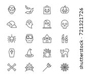 halloween thin icons | Shutterstock .eps vector #721321726