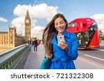 london phone business woman... | Shutterstock . vector #721322308