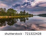 beautiful landscape of the lake ... | Shutterstock . vector #721322428