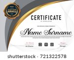 certificate template luxury and ... | Shutterstock .eps vector #721322578