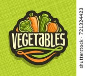 vector logo for fresh... | Shutterstock .eps vector #721324423