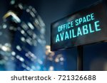 office space available led... | Shutterstock . vector #721326688