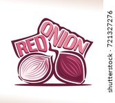 vector logo for fresh red onion ...
