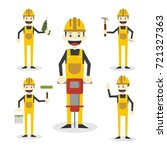 construction worker... | Shutterstock .eps vector #721327363