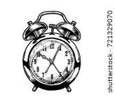hand drawn sketch of alarm...   Shutterstock . vector #721329070