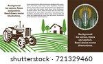 vector image of tractor  field... | Shutterstock .eps vector #721329460