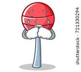 crying sweet lollipop character ...   Shutterstock .eps vector #721330294