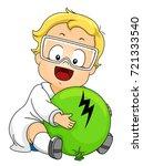 illustration of kid boy wearing ... | Shutterstock .eps vector #721333540