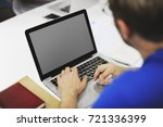 startup business people working ... | Shutterstock . vector #721336399