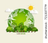 eco friendly. ecology concept... | Shutterstock .eps vector #721337779