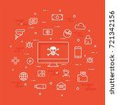 internet cyber attacks ...   Shutterstock .eps vector #721342156
