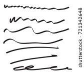 vector set of hand drawn... | Shutterstock .eps vector #721342648