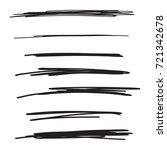 vector set of hand drawn... | Shutterstock .eps vector #721342678