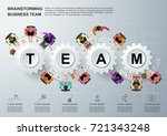 concept for business teamwork...   Shutterstock .eps vector #721343248