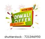diwali offer get 30  cashback... | Shutterstock .eps vector #721346950