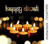 happy diwali indian greeting... | Shutterstock .eps vector #721347490