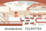 business people sitting and... | Shutterstock .eps vector #721347754