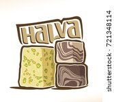 vector logo for turkish halva... | Shutterstock .eps vector #721348114