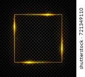 gold shining square banner.... | Shutterstock .eps vector #721349110