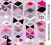 geometric elements memphis... | Shutterstock .eps vector #721349338