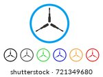 triple screwdriver rounded icon....   Shutterstock .eps vector #721349680