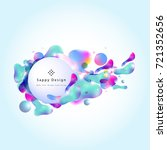 fluid color cover design with... | Shutterstock .eps vector #721352656