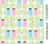 seamless pattern of baby... | Shutterstock .eps vector #721352890