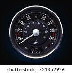 retro speedometer. tachometer....   Shutterstock .eps vector #721352926