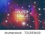 outer space futuristic... | Shutterstock .eps vector #721353610