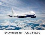Passenger Jet Plane In The Sky. ...