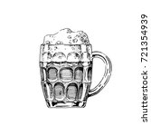 beer in dimpled mug. | Shutterstock . vector #721354939
