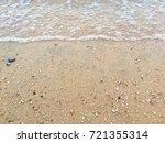 shells sand beach | Shutterstock . vector #721355314